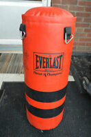 Everlast heavy punching kickboxing bag, 40 lbs, like new