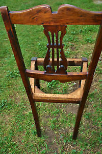 4 beautiful antique carved chairs