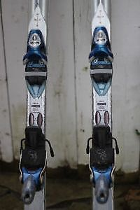 Atomic Skis with Pivot Bindings (67 inches long).