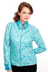 8ca8d24704e99 Blue Western Show Shirt