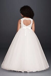 2 Flower Girl Dress Ball Gown with Heart Shape Cut Out