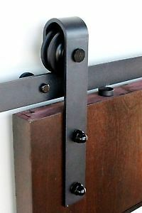 Easy install, easy open, soft close barn door hardware