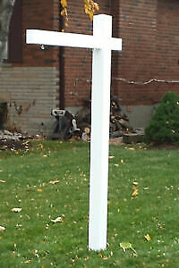 White Wood Real Estate Sign Posts
