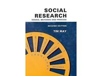 Social Research Issues Methods and Process 2nd Edition by Tim May £15 ONO Plus £2.60P&P