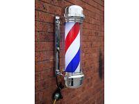 Pole Sign LED Light Barber shop Barber Pole For Salon 80cm Large Bring some class to your Shop