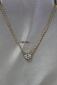 """*APPRAISED* 14K White & Yellow Gold 0.80CT 15"""" Diamond Necklace"""