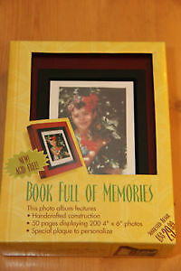 2 Photo Albums that look like wooden books NEW in box