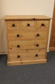 RECLAIMED PINE 3 OVER 3 CHEST OF DRAWERS