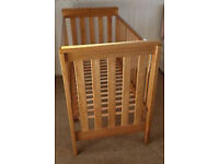 Mamas & Papas OAK COT - £40 BARGAIN (cost £300) - CAN DELIVER FOR FUEL