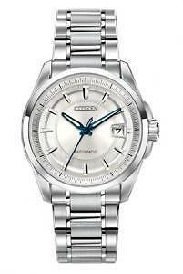 Signature Automatic Stainless Steel Case and Bracelet Silver Ton  Nb0040-58a