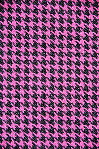 Lovely Fuchsia & Black Suiting & Lining Fashion Fabric