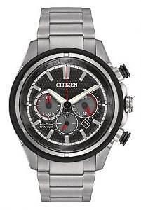 Citizen Men's Ti Plus Ip CA4240-82E Wrist Watches, Black Dial