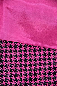 Lovely Fuchsia & Black Suiting and Lining Fashion Fabric
