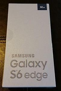 Unlocked Brand New Unused Samsung Galaxy S6 Edge Black and White 32 Gb