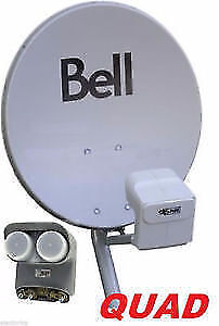 """20"""" BELL HD SATELLITE DISH 100% COMPLETE WITH DP QUAD LNB'S"""