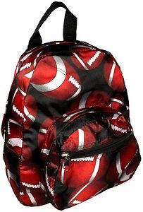 Toddler-Child-Boys-PreSchool-Small-Backpack-Purse-Football-NEW