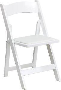 white folding chairs ebay