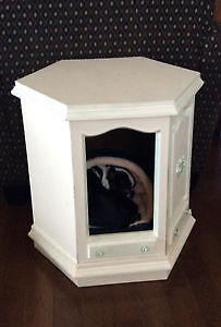 Unique end table for you and your furry friend