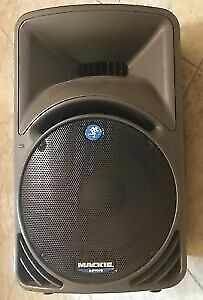 mackie srm 450 speakers and bags mint condition