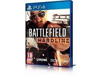 ps4 game / battlefield hardline / for sale or swaps