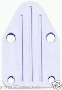 Sbc Small Block Chevy Billet Polished Aluminum Fuel Pump Block Off Plate