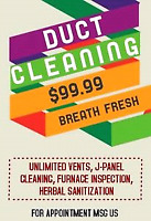 Duct cleaning amazing deal