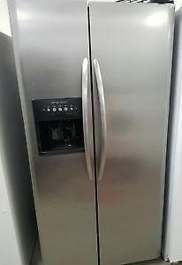 Frigidare stainless steel double door fridge free delivery and install