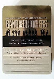 Band of Brothers 6 Disc DVD Set in Tin Box