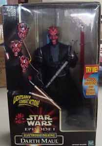 Star Wars Episode I 1 Darth Maul Electronic Talking Hasbro Sealed