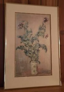 Claude Monet ~ Vase of Poppies ~ Custom Framed -$40