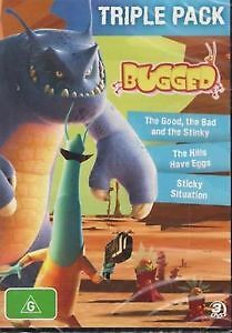 BUGGED DVD, THE GOOD THE BAD & THE STINKY, THE HILLS HAVE EGGS, STICKY SITUATION