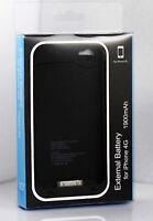 NEW BLACK External Battery Case Batterie Etui iPhone 4 4S