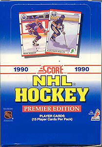 1990-91 SCORE hockey ... AMERICAN or CANADIAN ... BOX - 36 packs
