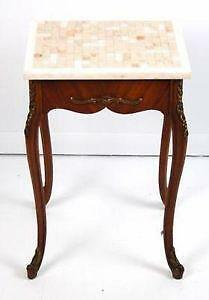 Antique Marble Top End Tables