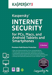 Kaspersky Internet Security - 3-Device - 6 Months - Android/iOS