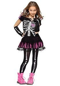 Girls Skeleton Costume - Size 6 - Small