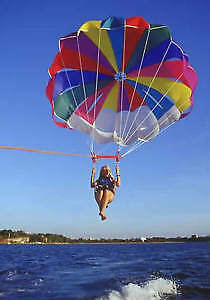 Multi Coloured Single Seat ParaSail with 300' of Float Rope