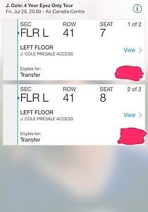 J COLE FLOOR TICKETS ACC CONCERT