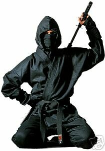 Ninja Anzug Kendo v. Hayashi. Komplett Set. 160-170cm. Ninjutsu, Ju Jutsu, Jiu J