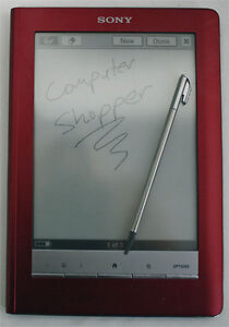 Sony Reader PRS600R Touch Edition Digital Book - Red