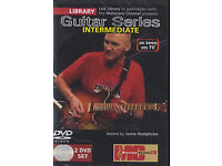 LEARN GUITAR DVD'S £9 each set - LICK LIBRARY GUITAR SERIES INTERMEDIATE + ADVANCED 4 X DISCS
