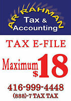 Income Tax efile for only 18 dollars!!