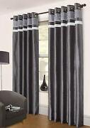 Silver Eyelet Curtains
