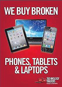 We buy sell trade repair used broken laptops cellphones tablets