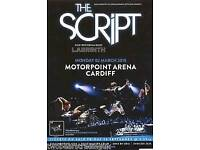 X2 standing tickets the script playing in Cardiff