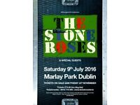 1 X Stone Roses Ticket For Marley Park