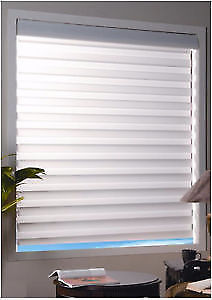 "Shade-O-Matic® Faux Wood 2"" Privacy Blinds"