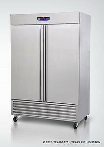 Migali G3-2f Commercial 49 Cu.ft Stainless 2 Door Reach-in Freezer - 2999
