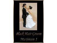 1 Interchangeable Black Haired White Groom Wedding Cake Topper Decoration Fab Keep Sake