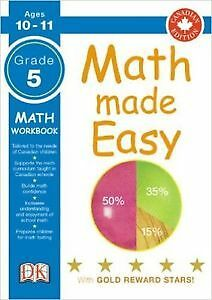 ▀▄▀DK Math Made Easy Workbooks Grade  5